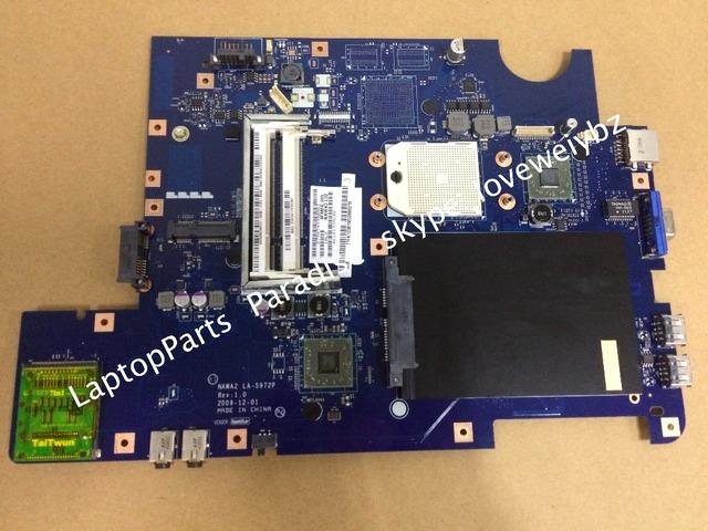 Envío libre nuevo y original para lenovo g555 la-5972p rev placa madre del ordenador portátil 1.0