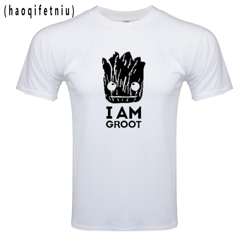 NEW Groot   T     Shirt   Men Harajuku   T  -  Shirt   Men Cotton Short Sleeves Casual Male Tshirt Marvel   T     Shirts   Men Tops Tees Free Shipping
