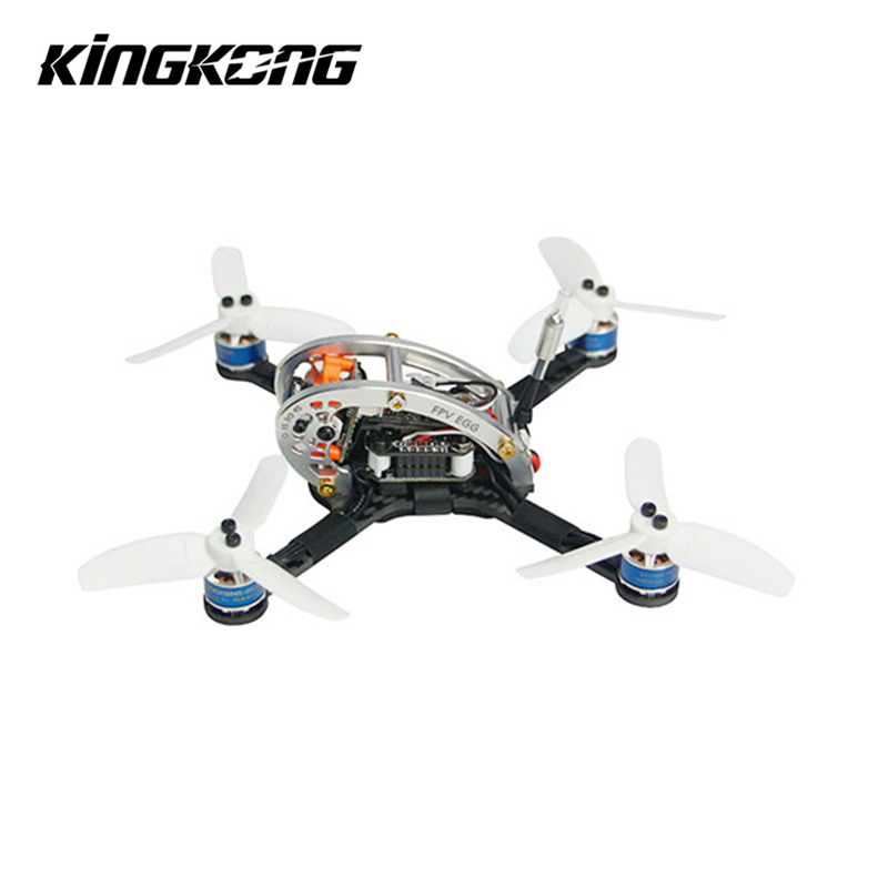Kingkong FPV OEUF 136mm Racing Drone BNF W/F3 4in1 10A BLehil_S 25 mW/100 mW 16CH 600TVL Pour Runcam pour Frsky Flysky récepteur