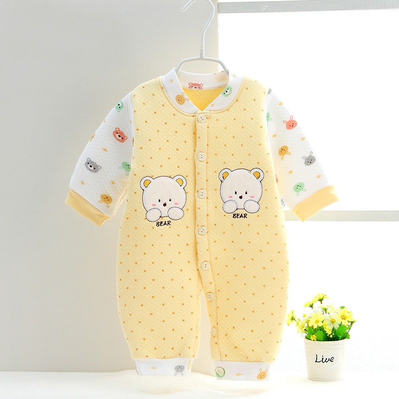 Men and women baby warm onesies baby spring cotton cotton clothing newborn spring and autumn cotton romper