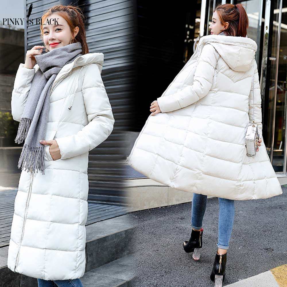 PinkyIsBlack 2018 Plus Size 6XL Winter Jacket Women Hooded Down Wadded Jacket Female Long   Parkas   Cotton-Padded Winter Coat Women