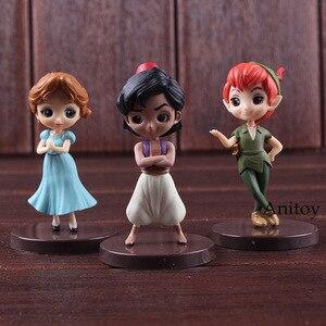 Image 2 - QPosket Q Posket Petit Characters Fantastic Time Aladdin Wendy Peter Pan Toy Figures PVC Action Figure Kids Toys Dolls 3pcs/set