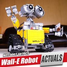 2016 New Lepin 16003 Idea Robot WALL E Building Set Kits Minifigures Bricks BlocksBringuedos legoe 21303