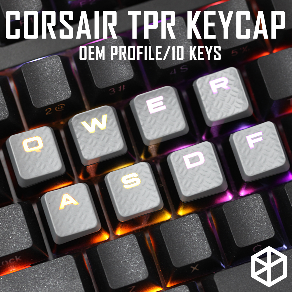 Gaming Keycap Set Keycaps Cherry MX Compatible OEM Profile Shine-through Set Of 10 Keycaps Wasd Qwer