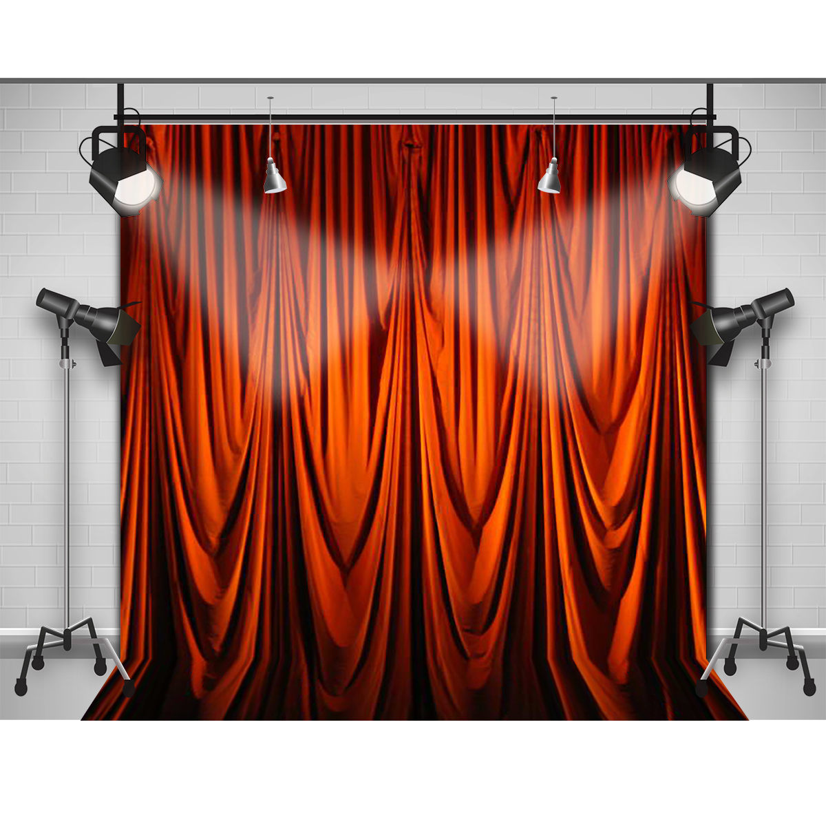 Bl blue stage curtains background - Aliexpress Com Buy Allenjoy Photographic Background Orange Silk Curtain Folds Photo Backdrops For Sale New Design Fabric Vinyl Fondos Fotografia From