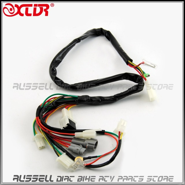 wire wiring harness assembly for yamaha pw50 y zinger replacement rh aliexpress com Custom Motorcycle Wiring Custom Motorcycle Wiring