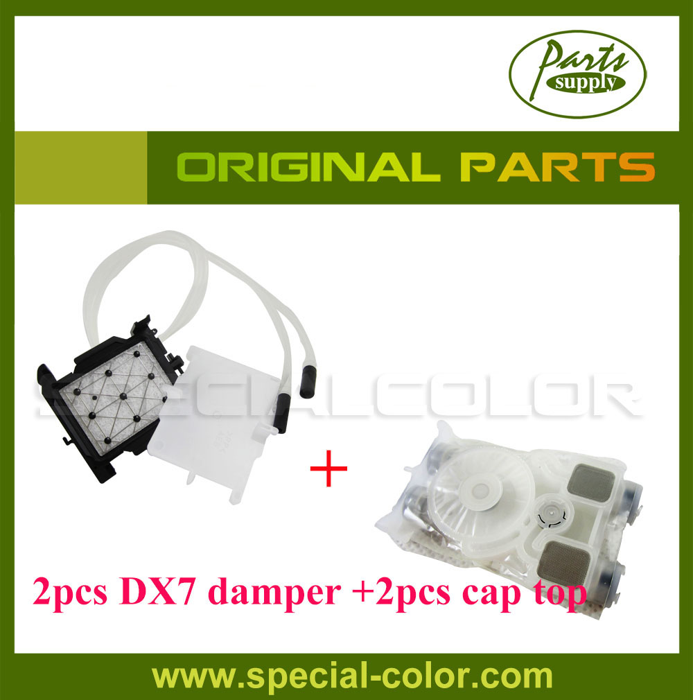 Made In Japan 2pcs Roland DX7 Solvent Printhead Damper with 2pcs Original DX7 Cap Station for Roland VS640/540/RA640/XF640 5pcs lot wholesales roland ra640 printer damper dx7 head damper
