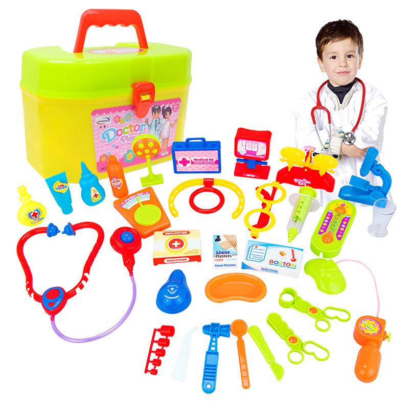 Children Doctor Toy Box Pretend Play Set Medicine Box Role Play Educational Baby Toy Doctor Kit Classic Toys