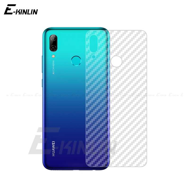 Clear Soft Carbon Fiber Protective Back Film Voor HuaWei P Smart Z Plus 2019 GR5 2017 Achter Screen Protector Niet gehard Glas