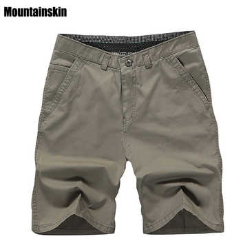 Mountainskin 2018 New Summer Men's Cotton Shorts Solid Casual Men's Business Shorts Soft Thin Brand Male Beach Shorts,SA179 - DISCOUNT ITEM  7% OFF All Category