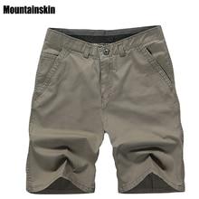 Mountainskin 2018 New Summer Men's Cotton Shorts Solid Casua
