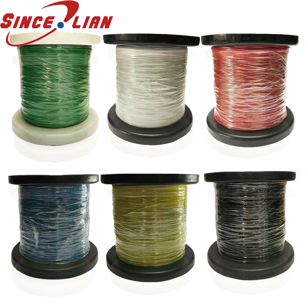 1000M MUL10064 Single Wire 34AWG FEP 19 0 036 OD 0 32mm High temperature resistance Wire