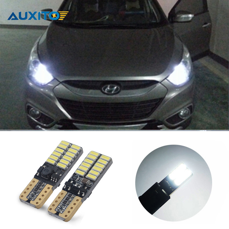 2X Auxito LED W5W T10 Car Clearance Bulbs Light For Hyundai Solaris Accent ix35 i30 i235 Tucson Sonata Getz Elantra Lantra iMAX прокладка клапанной крышки hyundai accent elantra 1 6 00