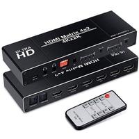 HDMI Matrix 4x2 4K 30Hz hdmi Splitter Spdif HDMI 4x2 Matrix Switch Support HDCP 2.2 IR Remote Control