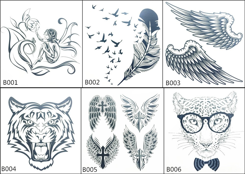 Angel Wings Raver Arm Leg Body Art Waterproof Temporary Tattoo Sticker women's make up Temporary tattoos 6