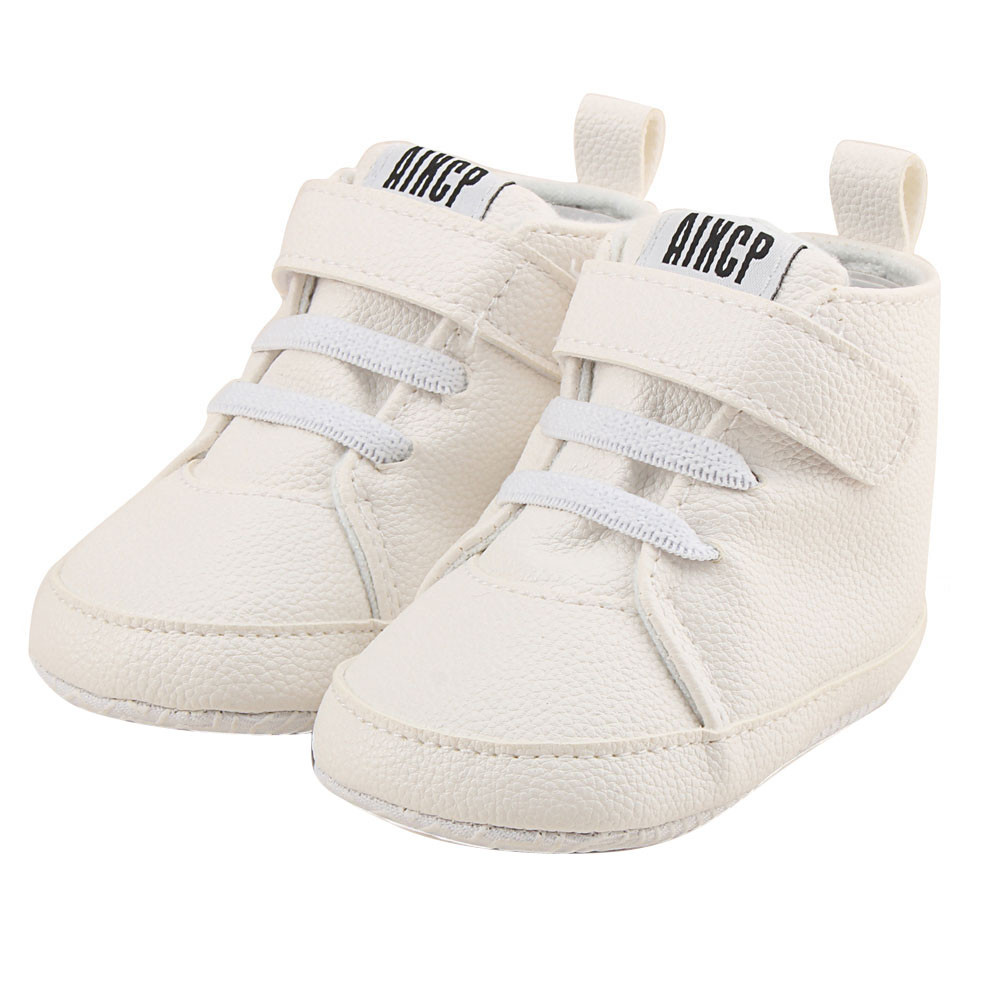 NewBorn Baby Autuam Leather Solid Fashion shoes Toddler Girls Boys Crib EVA Bottom Shoes Prewalker Soft Sole First Walk Sneakers