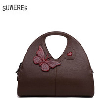 SUWERER 2018 New Genuine Leather women bags Fashion luxury Handmade leather art bag women bags designer women leather handbags