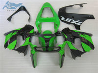 Free Custom motor fairing kits for KAWASAKI Ninja ZX9 R 02 03 ABS plastic sports fairings kit 2002 2003 ZX9R green black parts