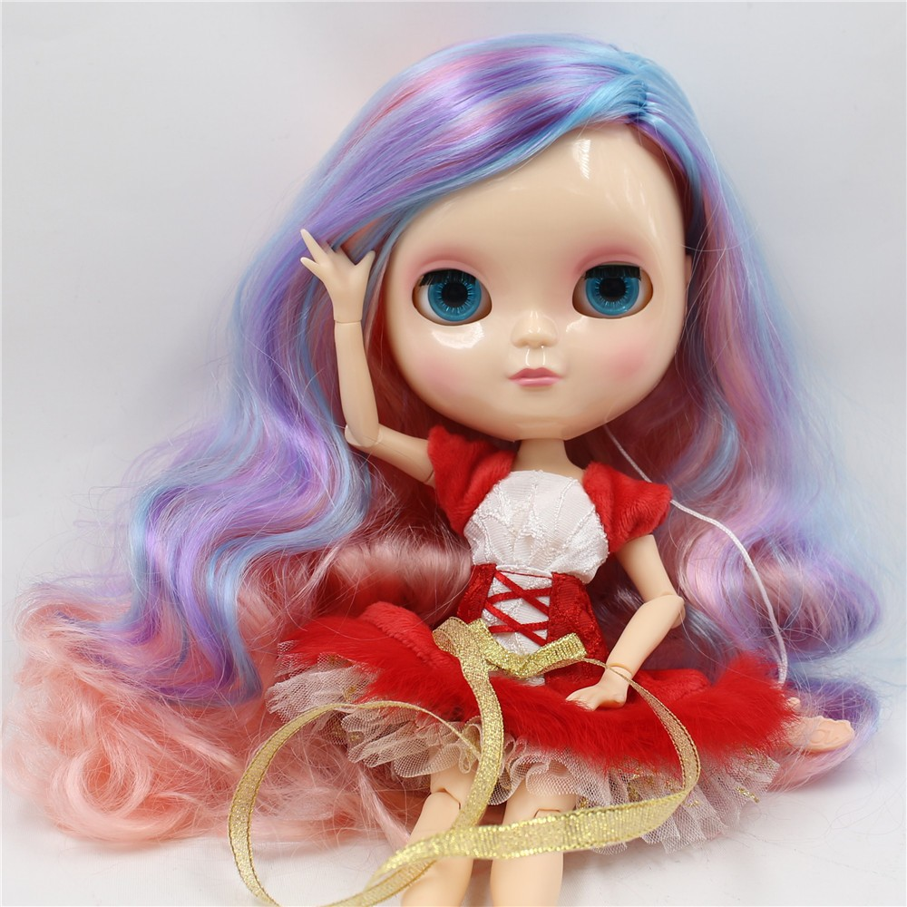 Neo Blythe Doll with Multi-Color Hair, White Skin, Shiny Face & Jointed Azone Body 3