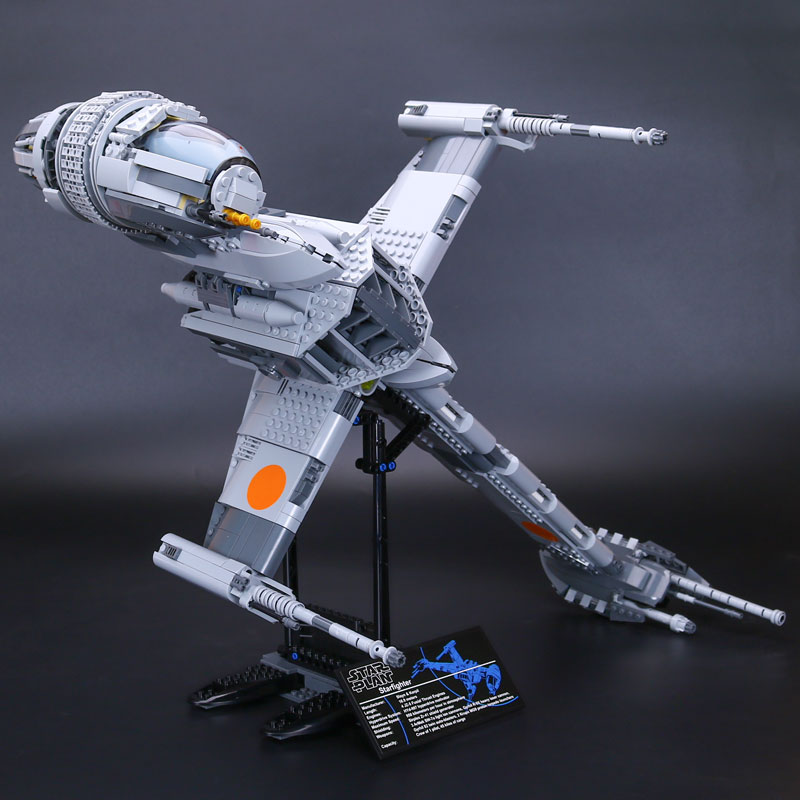 Lepin 05045 Star Series War legoing 1487Pcs Genuine The B Set Wing Star fighter Set Building Blocks Brick Educational Toys 10227 rollercoasters the war of the worlds