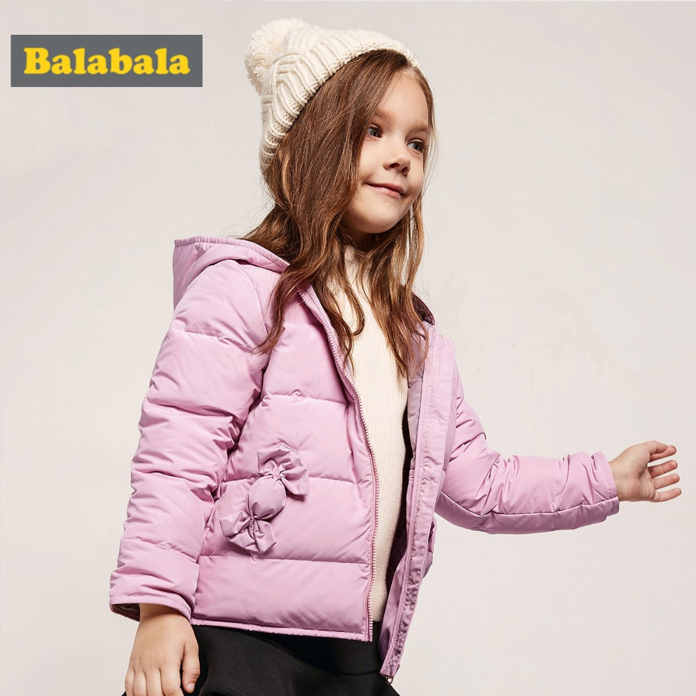 Balabala Toddler Girls Candy Lighweight Hooded Down Jacket Children Kid Hooded Puffer Jacket with Zip in Silky Polyester Lined Подушка