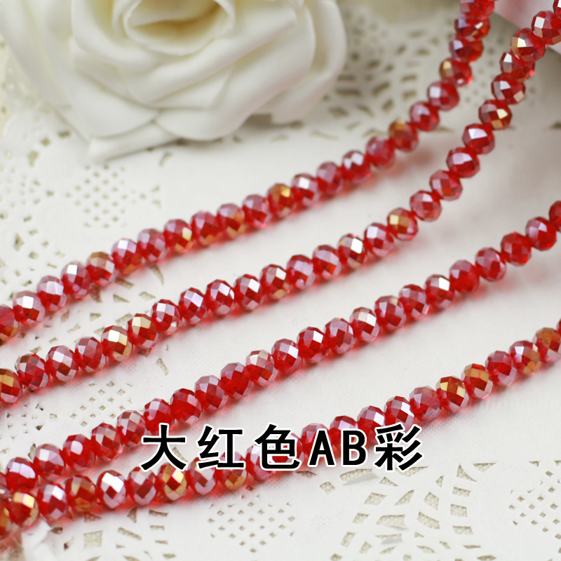 купить Siam AB Color 2mm,3mm,4mm,6mm,8mm 10mm,12mm 5040# AAA Top Quality loose Crystal Rondelle Glass beads дешево