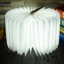 United States White Maple Folding LED Booklight Lamp Nightlight Novelty USB Rechargeable Reading Study Lights Four Colors Decor(China)