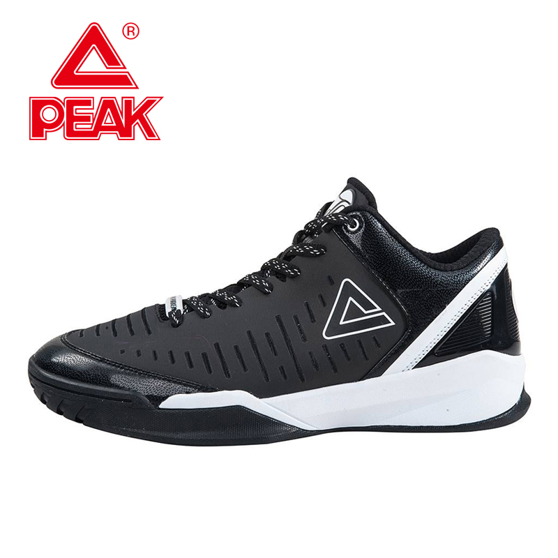 PEAK SPORT Authent Tony Parker II Simple Edition Men Basketball Shoes Wear-resistant Athletic Training Boots Sneaker EUR 40-47 peak sport lightning ii men authent basketball shoes competitions athletic boots foothold cushion 3 tech sneakers eur 40 50