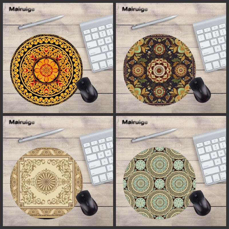 Mairuige High Quality Pattern Lifelike Round MousePad Laptop 200X200MM Size PC Game Home ...