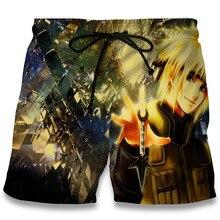 Fashion Summer Naruto 3D Shorts Beach Men's Bermuda Plus Size 5XL