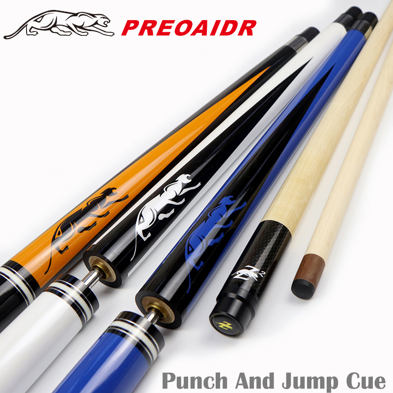 3142 Punch&Jump Cue 3-Piece Jump&Punch Cue 13mm Tip Jump Cue Stick Billiard Cue Billiard Punch Stick Kit 2 Functions in One