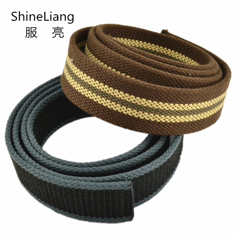 Canvas   belts   body For men women without buckle Military Tactical Width 3.8cm Thickness 0.4cm Designers high quality Colourful
