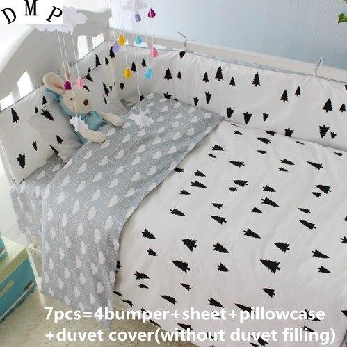 Promotion! 6/7PCS baby crib bedding set baby bed set Comforter , 120*60/120*70cmPromotion! 6/7PCS baby crib bedding set baby bed set Comforter , 120*60/120*70cm