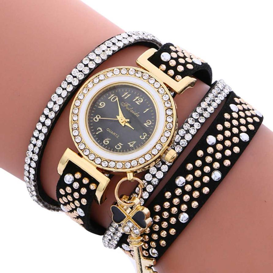 Fashion Ladies Wrist Watch Hot sale Women Bracelet watch Leather Stainless Steel Quartz Dress Watch Relogio feminino Wholesale 5 smileomg hot sale fashion women crystal stainless steel analog quartz wrist watch bracelet free shipping christmas gift sep 5