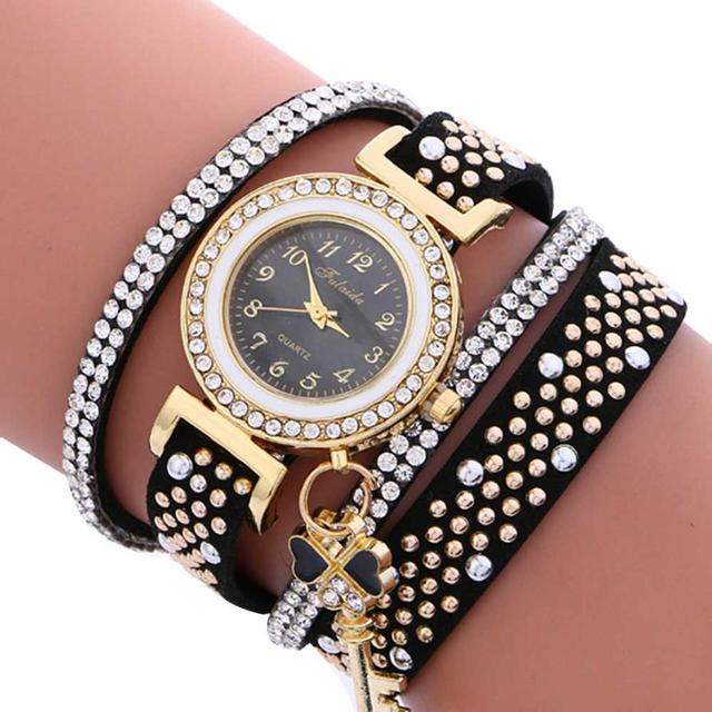 Fashion Ladies Wrist Watch Hot sale Women Bracelet watch Leather Stainless Steel
