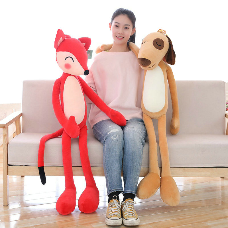 Super Long Legs Fox Hanging Foxes Funny hug Doll toys for Children Creactive hanging Dogs for wall decoration Birthday gifts space shark 3d printing home wall hanging tapestry for decoration