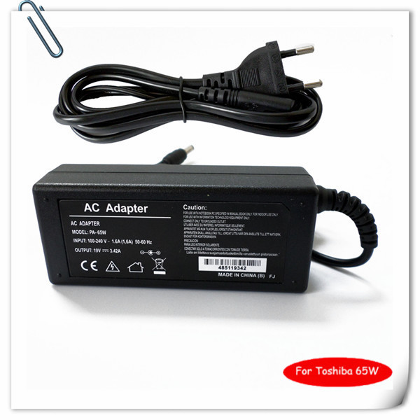 65W AC Adapter for Toshiba Satellite A110 C655 L505 L505 S5988 L645