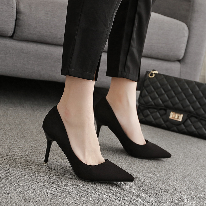 {D&Henlu} Small Size Women Shoes Big Size Heel Med Heels Women Basic Heels Black High Heel Shoes Size 43 Pointed Toe Pumps adidas performance women s perfect tight capri black size small