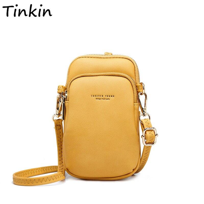 Tinkin nova chegada casual bolsa de ombro feminina pequena crossbody saco para meninas verão crossbody telefone celular bolsa de ombro