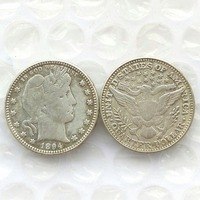 90 Silver 1894 Barber Quarter Dollars Retail Wholesale USA Copy Coins