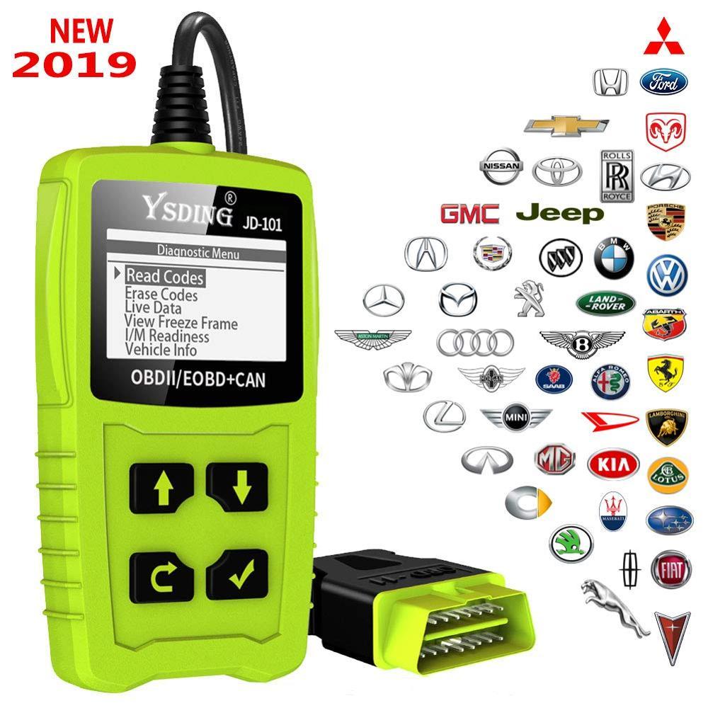 YSDING 101 OBD2 Automotive Scanner Leitor de Código de Ferramenta de Diagnóstico Do Carro Do OBD em Russo Universal OBD2 Scanner Melhor do que ELM327