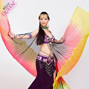 Image 2 - 2019 באיכות גבוהה בטן איזיס עבור נשים נחמד מצרים סגנון שיפוע צבע ריקוד כנפי עבור שלב להראות אבזרי isisWings