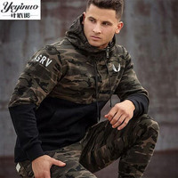 YEYINUO Brand 2017 New Fashion Spring Autumn Mens Hoodies Camouflage Style Hoodie Army Sweatshirt Tracksuit Male