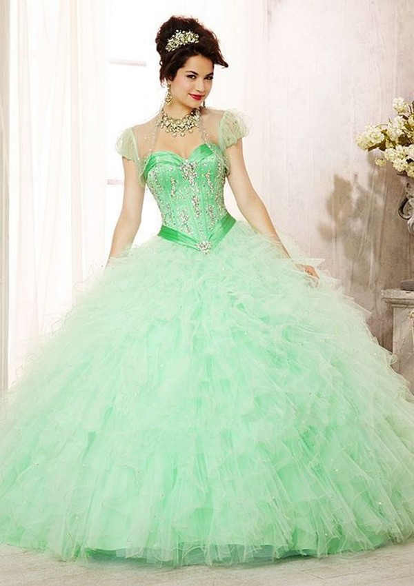 Popular Green Quinceanera Dresses-Buy Cheap Green Quinceanera ...
