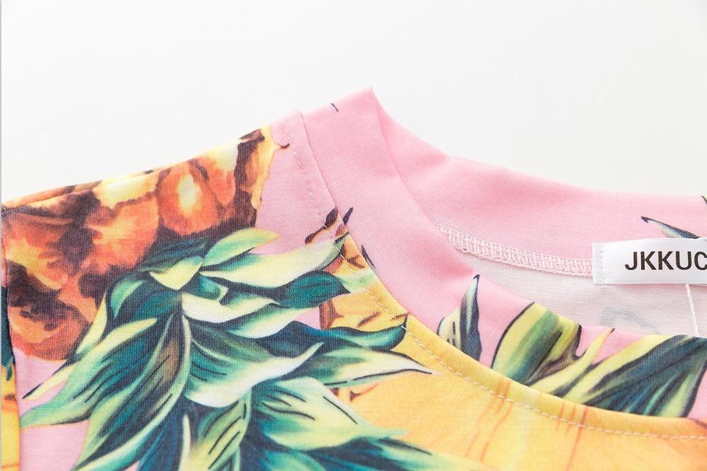 HTB1rvrKQVXXXXcDXFXXq6xXFXXXO - Top Hot Sequined Print Pineapple Women t shirt Short Sleeve
