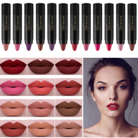 NICE FACE 24 Colors Lipstick Waterproof Matte Lipstick Long-lasting Cosmetic Nude Makeup Lips Gloss Lip Tint Kit