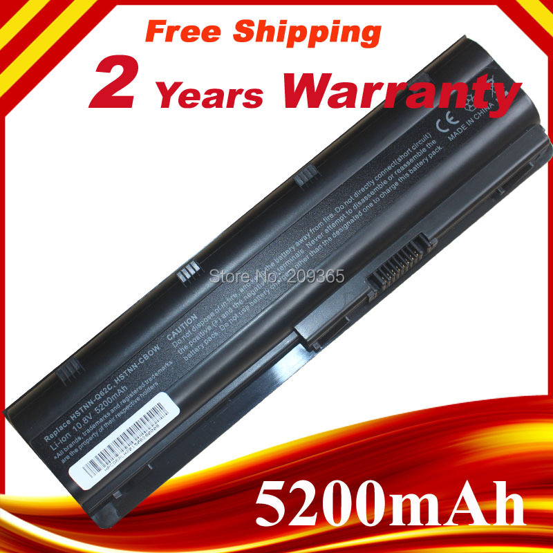 mu06 Black Laptop battery for HP Notebook PC 593553-001 for Pavilion g4 G6 G7 G32 cq42 593562-001 dv6-3000 MU09 HSTNN-LB0W image