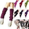 Hot New 2017 Moda Das Senhoras Das Mulheres Knit Inverno Crochet Polainas Alta Joelho Guarnição Bota Legging Mais Quentes de Alta Qualidade Barato