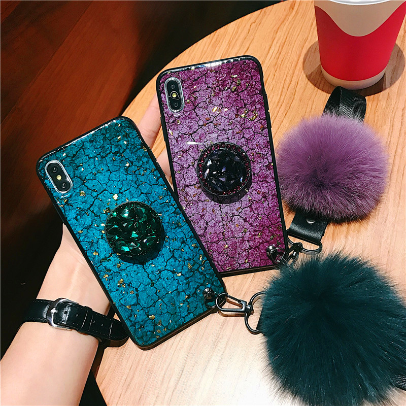 NEW Glitter Jewelled Air Bag Cell phone Bracket Acrylic Case For ... 6f5143aa0f35