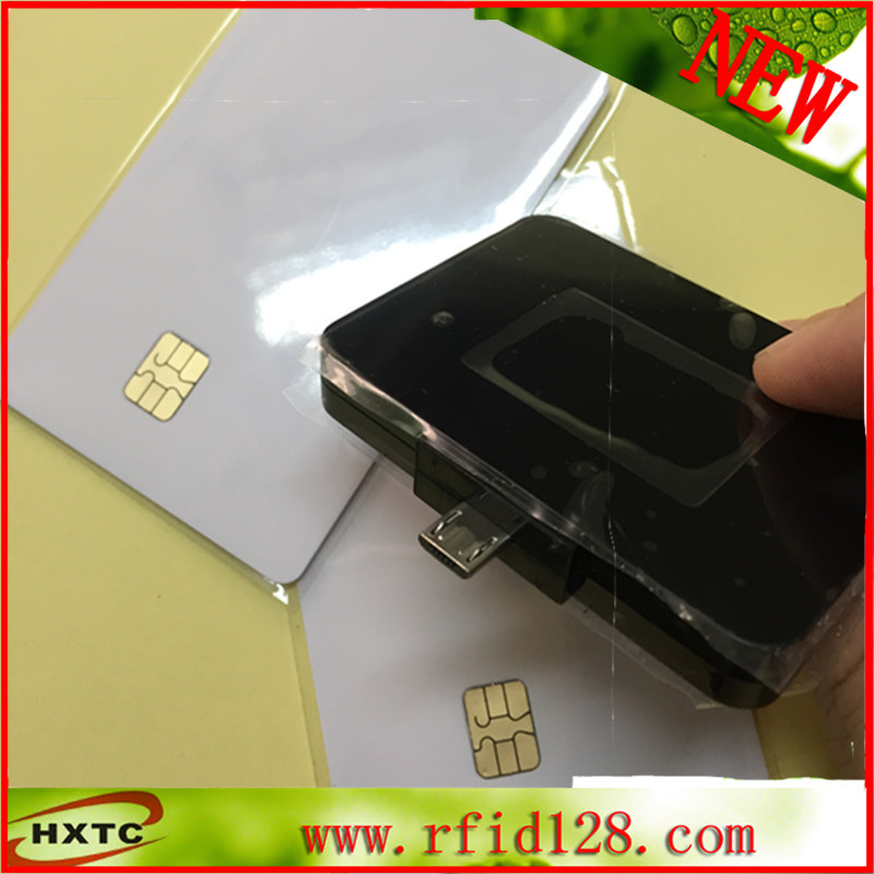 MicroUSB OTG RFID contact card reader for Network access control with SDK otg smart card reader for samsung i9300 i9500 i9200 n9000 green